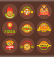 delivery pizza logo badge pizzeria restaurant vector image vector image