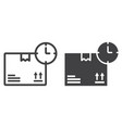 delivery time line and glyph icon logistic vector image vector image