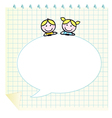 doodle school children vector image vector image