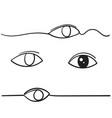 eye icon symbol vision linear doodle vector image vector image