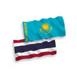 flags kazakhstan and thailand on a white vector image