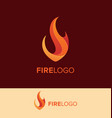 flame logo design template vector image vector image