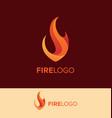 flame logo design template vector image