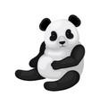flat design of sitting panda black and vector image vector image