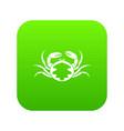 fresh live crab icon digital green vector image vector image