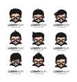 geek nerd logo design vector image vector image