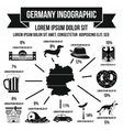 German infographic elements simple style vector image vector image
