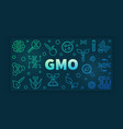gmo colorful linear banner on dark vector image vector image