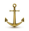 Golden Realistic Anchor vector image