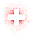 graffiti white cross spray design element in white vector image vector image