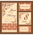 Grapevine Wedding card set Printable vector image vector image
