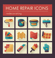 Home repair remodelling redecoration icon set