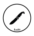 Hunting knife icon vector image vector image