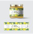 jam star fruit carambola label packaging jar sugar vector image vector image