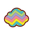 line color nature cloud in the sky with rainbow vector image vector image