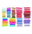 marker stroke spots bright color vector image vector image
