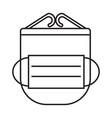 mask and face shield simple medicine icon in vector image
