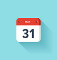 May 31 Isometric Calendar Icon With Shadow vector image vector image