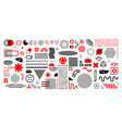 memphis abstract shapes geometric graphic design vector image vector image