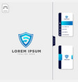 minimal s logo template free business card design vector image vector image