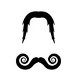 moustache icon design vector image vector image
