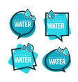 natural water logo labels and stickers vector image vector image