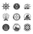 Nautical Labels Set vector image vector image