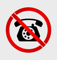 no phone old phone prohibition sign vector image