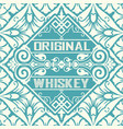 Old whiskey label and vintage wallpaper vector image
