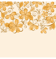 orange and brown flowers vector image