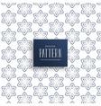 pattern background of line flower design vector image vector image