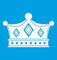 prince crown icon white vector image vector image