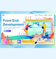 process front end development from the vector image vector image