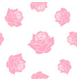 red roses seamless pattern background vector image