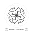 sacred geometry symbol vector image vector image