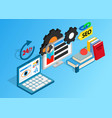 seo clip art isometric style vector image vector image