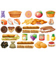 set different food vector image