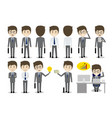 set of businessman character design vector image
