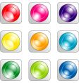 set of color buttons vector image vector image