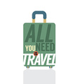 Single Luggage Of Traveler vector image