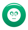 smile icon green vector image vector image
