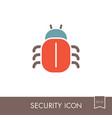 software or program bug icon vector image