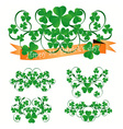 st Patrick ornaments vector image vector image