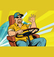 tourist driver international transport vector image