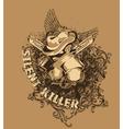 vintage t-shirt design vector image vector image