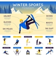 Winter Sports Infographics vector image vector image