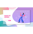 young woman in stylish clothing moving body disco vector image
