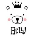 hello bear vector image