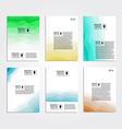 Colored wave backgrounds set Brochure flyer vector image