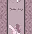 Ballet design card vector image